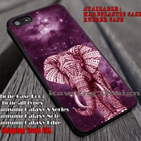 Elephant Ornate on Grey Nebula Red iPhone 6s 6 6s+ 6plus Cases Samsung Galaxy s5 s6 Edge+ NOTE 5 4 3 #art ii