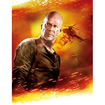 Live Free Or Die Hard poster Bruce Willis 11 inch x 17 inch poster