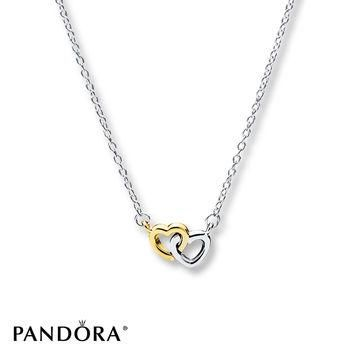 PANDORA Necklace United in Love Sterling Silver/14K Gold
