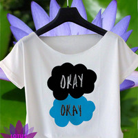 okay? okay shirt okay? okay crop top the fault in our stars crop tee OK-1