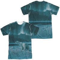 WILD WINGS/POLAR NIGHT LIGHT (FRONT/BACK PRINT)-S/S ADULT POLY CREW-SUBLIMATE WHITE