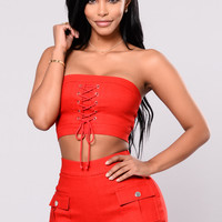 Amaryllis Top - Red