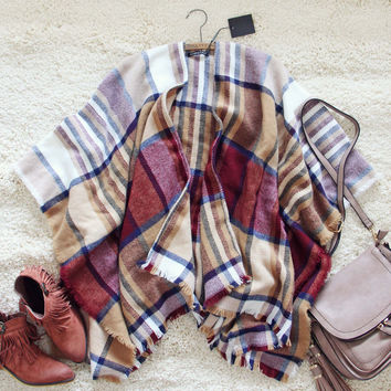 Cozy & Sweet Plaid Wrap