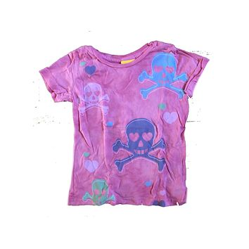 Girls Junk Food Skull and Roses T-Shirt