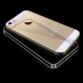Case Cover for iPhone Slim Clear Soft TPU 5 S 5S SE Transparent