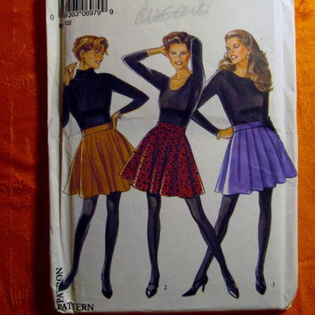 Sale Uncut Simplicity New Look Sewing Pattern, 6979! 6-8-10-12-14-16 Small/Medium/Large/Women's/Misses/Dance Skirts/Thigh Length Mini Skirts