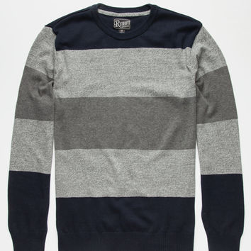 Retrofit Williams Mens Sweater Navy  In Sizes