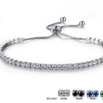 Fashion simple diamond bracelet ladies art adjustable
