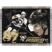 Sidney Crosby #87 Pittsburgh Penguins NHL Woven Tapestry Throw (48x60)