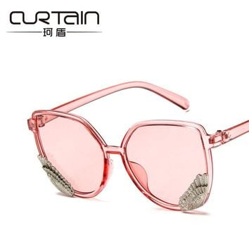 e58668612a6 CURTAIN Brand Sunglasses Women Square Colorful Trendy Transparen. Eyewear  ...