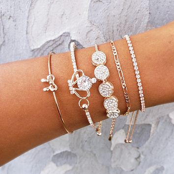Royal Crown Bracelet Stack