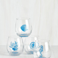 Nautical Welcome Helm Wine Glass Set by ModCloth