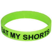 ToastyCo. Clothing! Cute Clothing that comes with free skittles!— EAT MY SHORTS Wristband