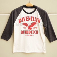 S M L - Ravenclaw Shirt Hogwarts Shirt Harry Potter Quidditch Shirt Men Shirt Women Shirt Long Sleeve Baseball TShirt Raglan Baseball Shirt
