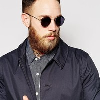 ASOS Metal Round Sunglasses at asos.com