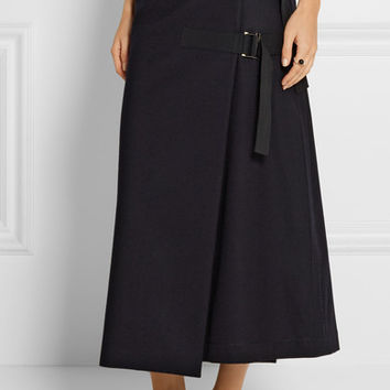 Sacai - Melton wool wrap skirt