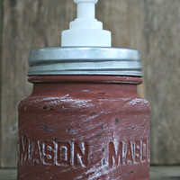 Mason Jar Soap Dispenser - Annie Sloan Chalk Paint