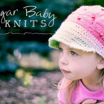 Strawberry Shortcake Cap - Custom Order Size & Color