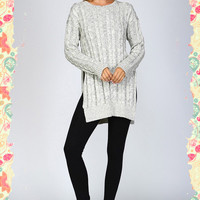 Snow Angels Cable Sweater (ivory)