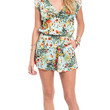 In The Tropics Printed Crochet Trim Romper