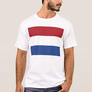 T Shirt with Flag of Netherlands