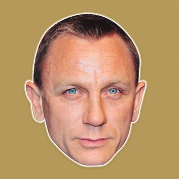 Sexy Daniel Craig Mask - Perfect for Halloween, Costume Party Mask, Masquerades, Parties, Festivals, Concerts - Jumbo Size Waterproof Laminated Mask