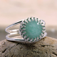 SUMMER SALE - amazonite ring,silver ring,gemstone ring,sky blue ring,unique rings,delicate ring,mom gifts,bridesmaid rings
