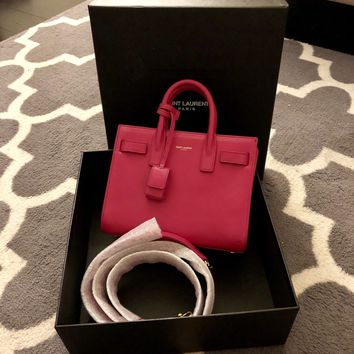 YVES SAINT LAURENT Nano Sac De Jour Carryall Bag, $1990 BRAND NEW