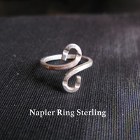 Napier jewelry, ring sterling silver size 7 stamped, s ring