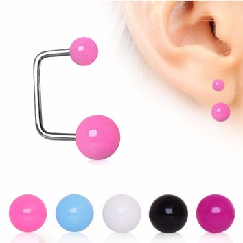 316L Surgical Steel Loop Cartilage Earring with UV Acrylic Balls