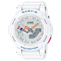 Casio Womens Baby-G Watch - White Case & Strap - Stopwatch - World Time - 100m