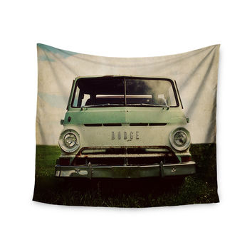 "Angie Turner ""Dodge"" Green Car Wall Tapestry"