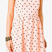 Strapless Polka Dot Print Dress | FOREVER 21 - 2046022747