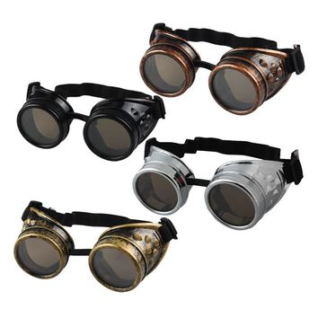 Vintage Style Steampunk Goggles Welding Punk Gothic Glasses Cosplay