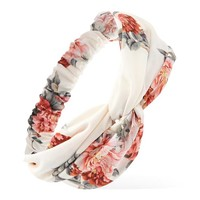 Tropical Floral Print Headwrap