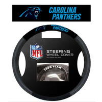 Carolina Panthers NFL Poly-Suede Steering Wheel Cover