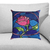 Beauty and The Beast Rose Custom Pillow Case for One Side and Two Side