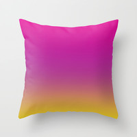 Gorgeous Gradient Ombre Throw Pillow by All Is One
