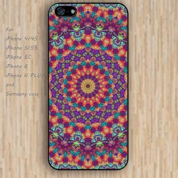iPhone 5s 6 case trippy tendencies Mandala phone case iphone case,ipod case,samsung galaxy case available plastic rubber case waterproof B343
