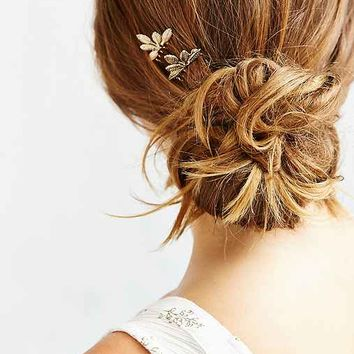 Ornate Foliage Hair Comb Set