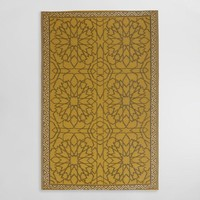 6ftx9ft Gold Sufi Reversible Indoor Outdoor Rio Floor Mat