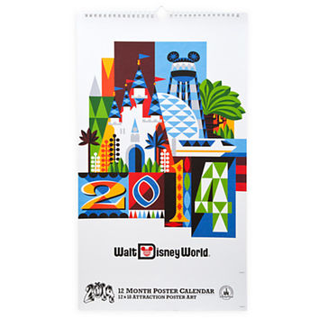 Walt Disney World Attraction Poster Calendar - 2014 | Disney Store
