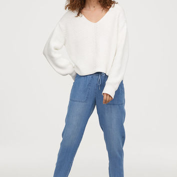 Pull-on Pants - Denim blue - Ladies | H&M US