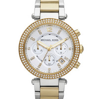 Michael Kors Parker Glitz Watch, Two-Tone