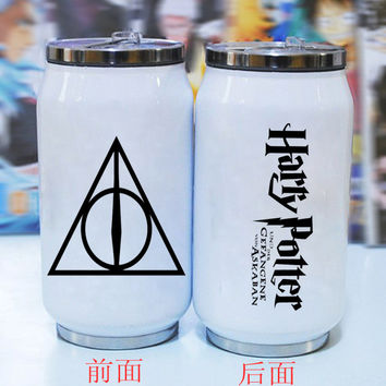 Hogwarts Harry potter cans creative stainless steel vacuum keep-warm Keep cold water cup mug art customized unique decal gift