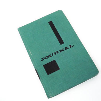 Vintage Blue Journal Vintage Notebook