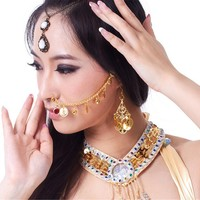 Nose Chain to Ear Dreamspell® Nose Chain Piercings Belly Dance Indian Nose Ring