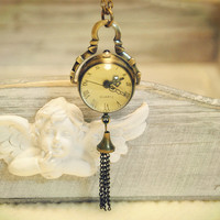 Glass Pendant Necklace Watch (TX0108)