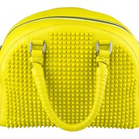 CHRISTIAN LOUBOUTIN Yellow Panettone Leather with Spikes Small Handbag