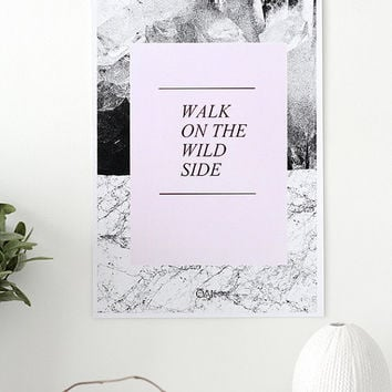 ROCK - Walk On The Wild Side - Poster (photography&digital illustration)